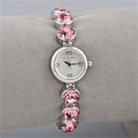 Betsey Johnson Pink Crystal Watch