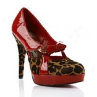 Betsey Johnson Roselyn Red Leopard Pump