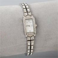 Betsey Johnson Silvertone Crystal Dress Watch