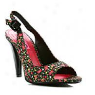 Betseyville Action Floral Slingback Pump