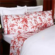 Birds Red 200tc Egyptian Sheet Set By Mirabello