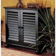 Black 2-door Shutter Cabinet