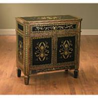 B1ack And Gold Antique Inspired Cabinet