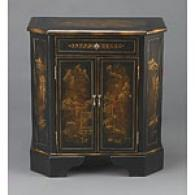 Black Oriental Finish 1 Drawer 2 Door Cabuney