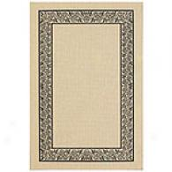 Black Ornate Border Indoor/outdoor Rug