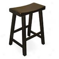 Black Saddle Seat Bar Stool