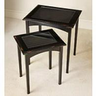 Black Shutter Nested 2pc Table Set