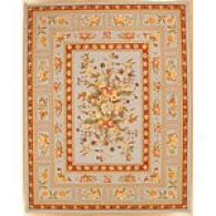 Blue Orchid Traditional Floral Wool Rug