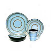 Blue Reactive Rings Open Stock Dinnerware