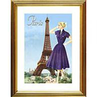 Bon Jour Paris Retro Fashion Framed Mark