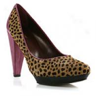 Botkier Jeanne Leopard Calf Hair & Mauve Pump