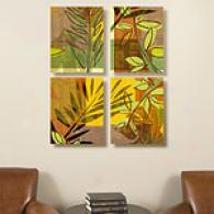 Bright Tropicals Set Of 4 Canvas Prints