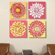 Brilliant Blossoms 16in X16in Canvas Print