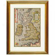 Britain And Ireland Framed Print By Ortelius
