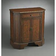 Brown 1 Drawer 2 Door Chinoiserie Cabinet