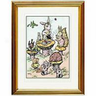 Bunnies' Tea Party Framed Print By M. Morris