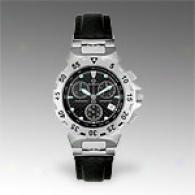 Burett Mens Black Lesther Chronograph Watch