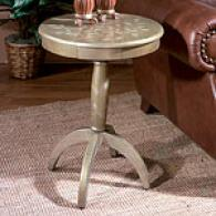 Butler Hand Painted Grey Floral Pedestal Table