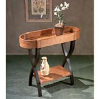 Butler Hand Painted Leaf Oval Console Table