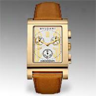 Bvlgari Mens Rettangolo 18k Gold Chronograph Watch