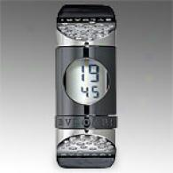Bvlgari Womens Ipno Digital Diamond Pewter Keep guard