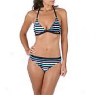 Calvin Klein Yarn Dye Stripe Triangle Bikini