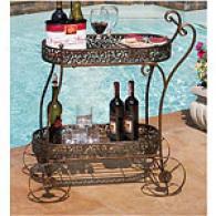 Cape Craftsmen Vineyard Filigree Servinb Cart