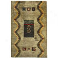 Capel Andes Jade Conemporary Hand-tufted Wool Rug