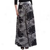 Carmen Marc Valvo Pewter Long Damask Skirt
