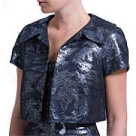 Carmen Marc Valvo Star Sapphire Metallic Jacket