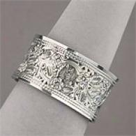 Carved Sterling Silver Bangle
