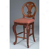 Carved Wood Bar Stool