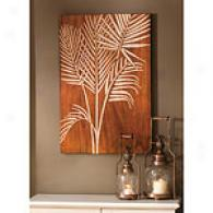 Carved Wood Hand-breadth Leaf Wall Art