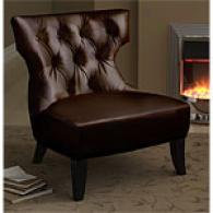 Cassandra Brown Leather Chair