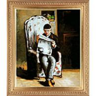 Cezanne Artist's Father Reading Oil On Canvas