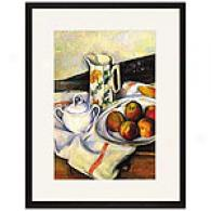 Cezanne Plate With Fruit & Terracotta Vase Print