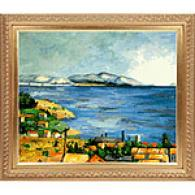Cezanne The Bay Of Marseilles Oil On Canvas