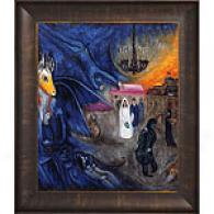 Chagall The Wedding Candles Framed Oil Painting