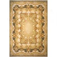 Chambord Collection Green Wool Rug