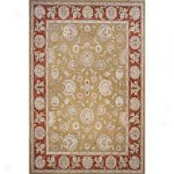 Champagne Collection Olive Green Rug