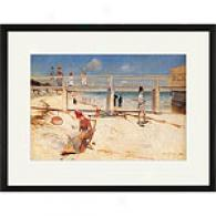Charlees Condor A Holiday At Mentone Framed Print