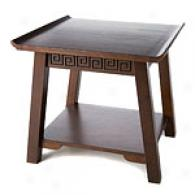 Chinois End Table With Shelf