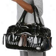 Chloe Bay Large Black Leather East-west Satchel