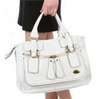 Chloe Bay White Leather Satchel