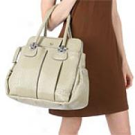 Chloe Heloise Beige Patent Leather Satchel