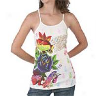 Christian Audigier Flower Speaks Tank