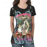 Christian Audigier Goddess Short Sleeve Tee