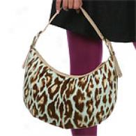 Christian Dior Aqua Animal Print Hobo