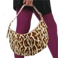 Christian Dior Beige Animal Print Hobo