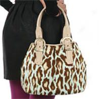 Christian Dior Medoum Aqua Animal Print Satchel